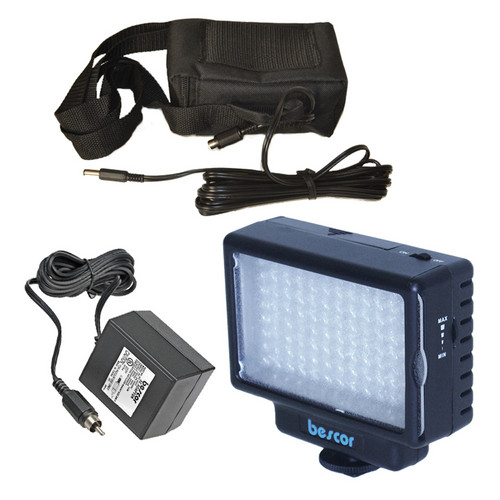 Bescor LED-70 LED Light with Battery and Charger/Power Supply