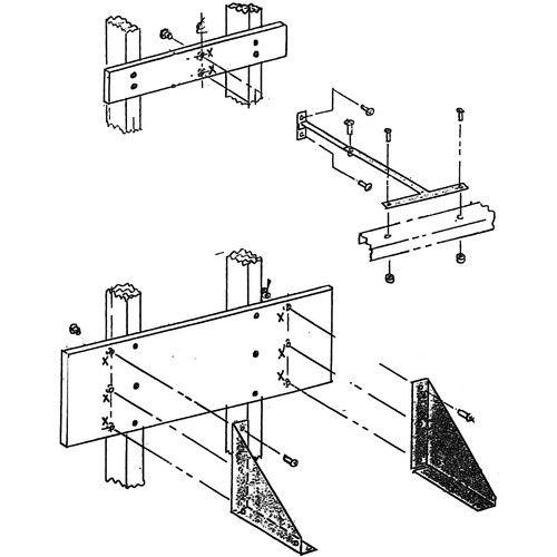Beseler Wall/Table Mount for 45MXT Chassis