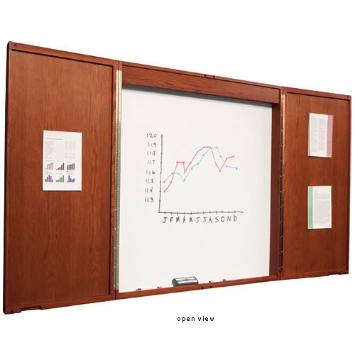 Best Rite Enclosed Conference Room Cabinet, Model 20631  (Mahogany)