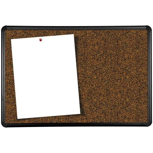 Best Rite Black Splash Cork Board with Presidential Trim (2.8 H x 4')
