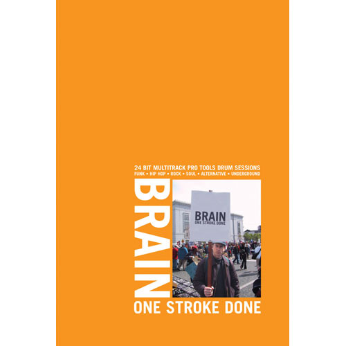 Big Fish Audio Sample CD: Brain - One Stroke Done (24-bit Wave and Pro Tools)