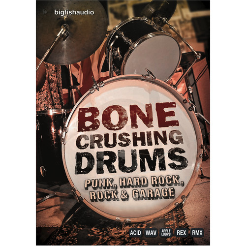 Big Fish Audio Bone Crushing Drums DVD (Apple Loops, REX, WAV, & RMX Formats)