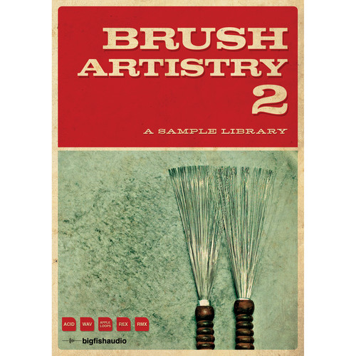Big Fish Audio Brush Artistry 2 DVD (Apple Loops/REX/WAV/RMX/Acid Formats)