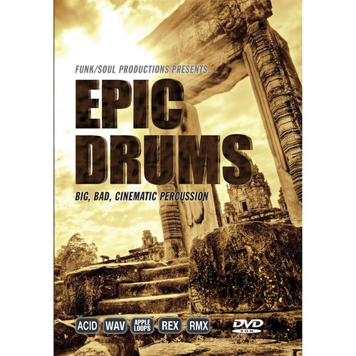 Big Fish Audio Epic Drums DVD (Apple Loops, REX, WAV, RMX, & Acid Formats)