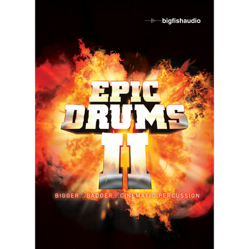 Big Fish Audio Epic Drums II DVD (Apple Loops, REX, WAV, RMX, & Acid Formats)