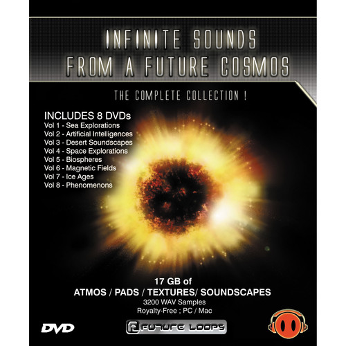 Big Fish Audio Infinite Sounds from a Future Cosmos 8 DVD Set (WAV Format)