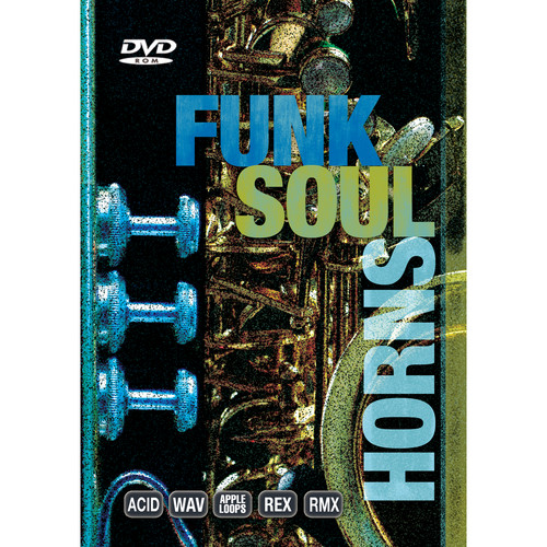 Big Fish Audio Funk Soul Horns DVD (Apple Loops, REX, WAV, RMX, Acid Formats)