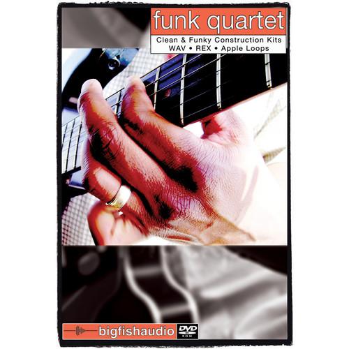 Big Fish Audio Funk Quartet DVD (Apple Loops, REX, WAV, & RMX Formats)