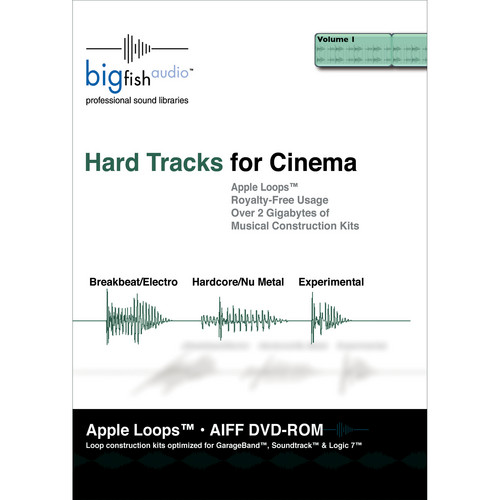 Big Fish Audio Hard Tracks for Cinema DVD (Apple Loops Library)