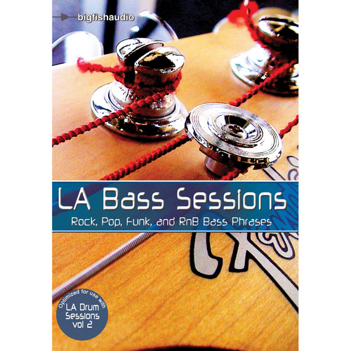 Big Fish Audio LA Bass Sessions DVD (Apple Loops, REX, WAV, & RMX Formats)