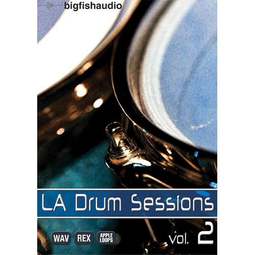 Big Fish Audio LA Drum Sessions 2 DVD (Apple Loops, REX, & WAV Formats)
