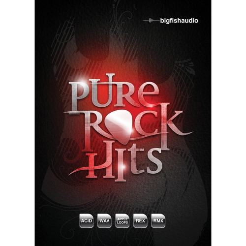 Big Fish Audio Pure Rock Hits DVD (Apple Loops, REX, WAV, RMX, & Acid Format)