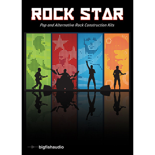 Big Fish Audio Rock Star DVD (Apple Loops, REX, WAV, & RMX Formats)