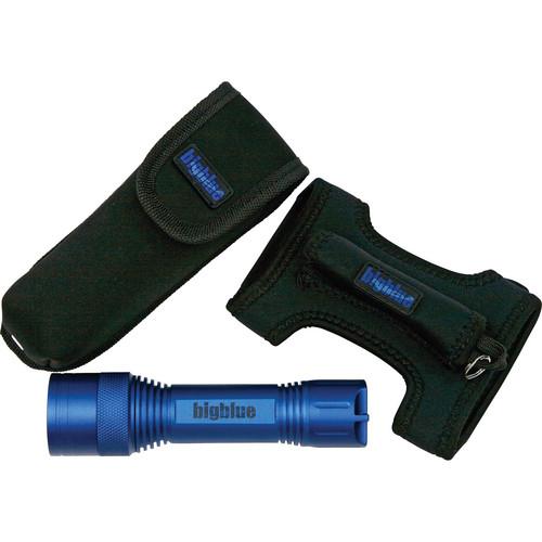 Bigblue CF-250 Focusable LED Dive Light (Blue, Goodman-glove & Pouch)