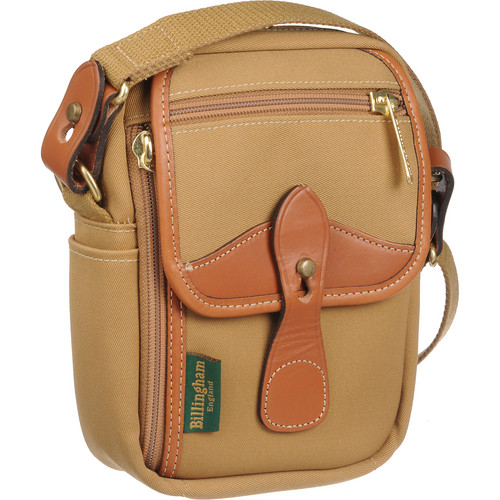 Billingham Stowaway Compact Shoulder Bag (Khaki/Tan Leather)