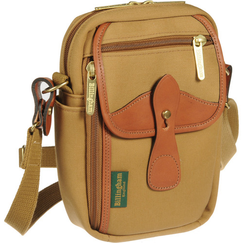 Billingham Stowaway Airline Shoulder Bag (Khaki/Tan Leather)