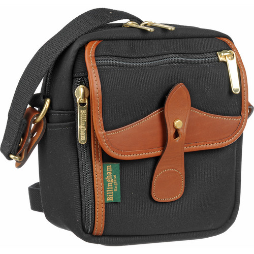 Billingham Stowaway Pola Shoulder Bag (Black/Tan Leather)