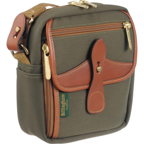 Billingham Stowaway Pola Shoulder Bag (Sage Green/Tan Leather)