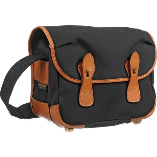 Billingham L2 Camera Bag (Black Canvas with Tan Leather Trim)
