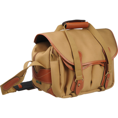 Billingham 225 Shoulder Bag (Khaki with Tan Leather Trim)