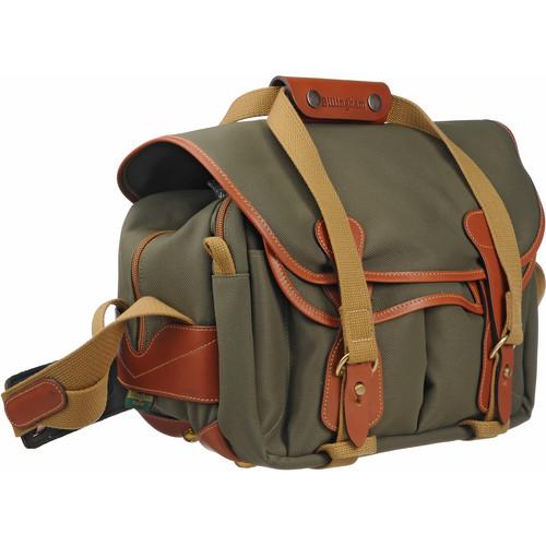 Billingham 225 Shoulder Bag (Sage Green with Tan Leather Trim)