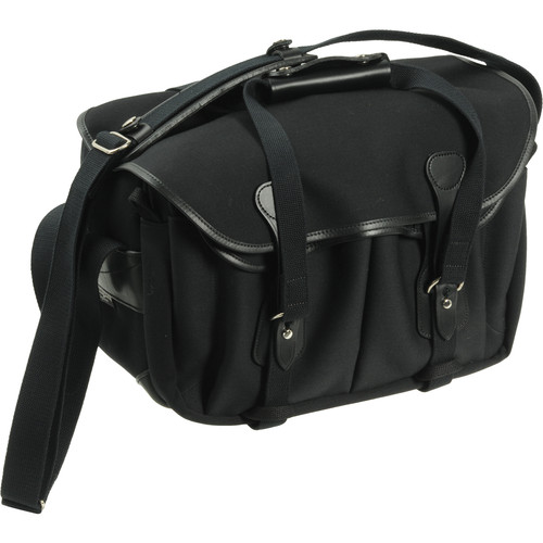 Billingham 335 Shoulder Bag (Black with Black Leather Trim)