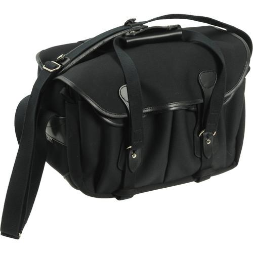Billingham 335 Shoulder Bag (Canvas, Black with Black Leather Trim)