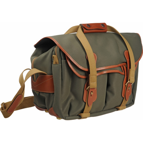 Billingham 335 Shoulder Bag (Sage with Tan Leather Trim)