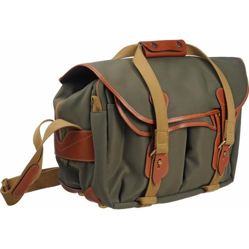 Billingham 335 Shoulder Bag (Sage with Tan Leather Trim)