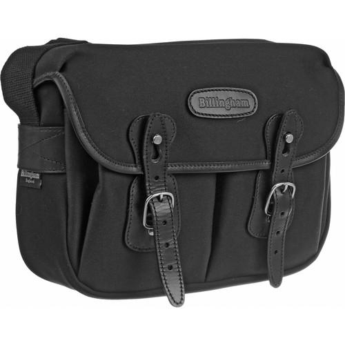 Billingham Hadley Shoulder Bag Small (Black with Black Leather Trim)