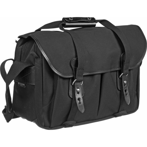 Billingham 445 Shoulder Bag (Black with Black Leather Trim)