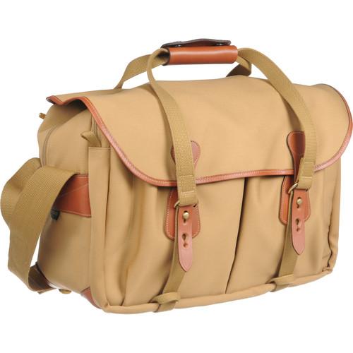 Billingham 445 Shoulder Bag (Khaki Canvas with Tan Leather Trim)