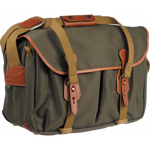Billingham 445 Shoulder Bag (Sage with Tan Leather Trim)