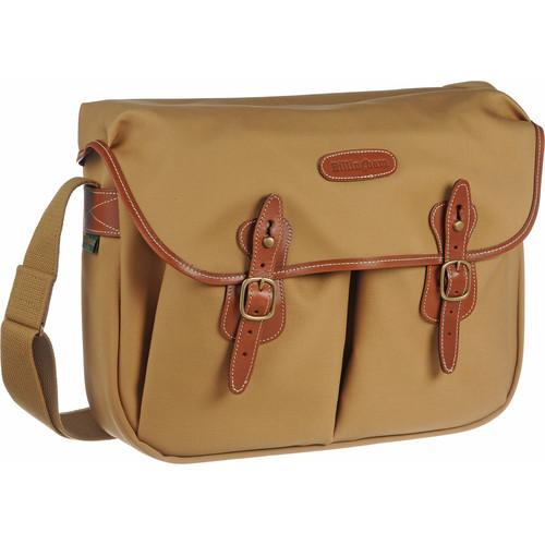 Billingham Hadley Shoulder Bag, Large (Khaki with Tan Leather Trim)