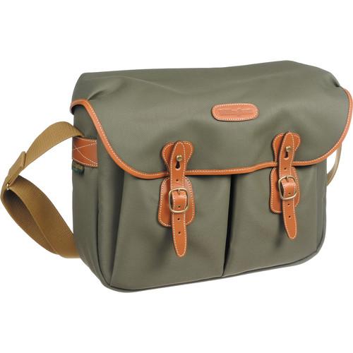 Billingham Hadley Large FiberNyte Shoulder Bag (Sage with Tan Leather Trim)