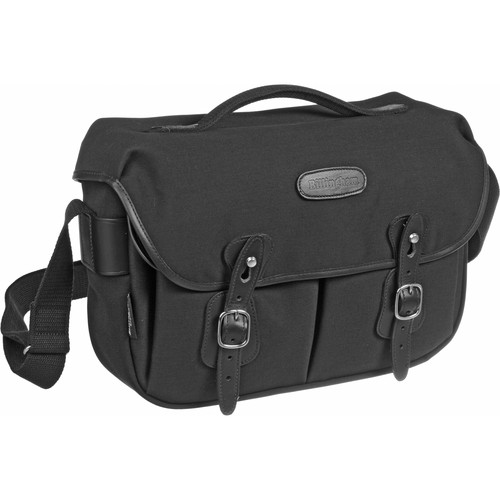 Billingham Hadley Pro Shoulder Bag (Black Canvas & Leather)