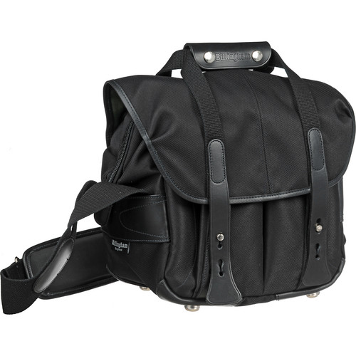 Billingham 107 Camera Bag (Black FibreNyte & Leather)