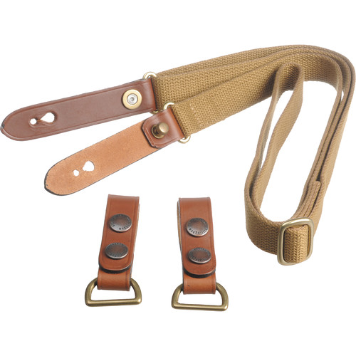 Billingham Waist Strap with Attachment Clips (Khaki with Tan Trim)