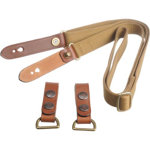 Billingham Waist Strap with Attachment Clips (Khaki with Tan Trim)