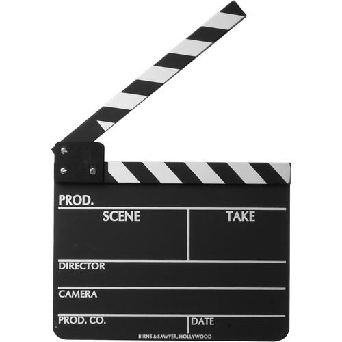 Birns & Sawyer 485100 Economy Chalkboard Production Slate with Black and White Clapper Sticks