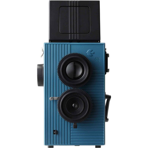 Blackbird Blackbird, Fly 35mm Twin-Lens Reflex (TLR) Camera (Black & Blue)