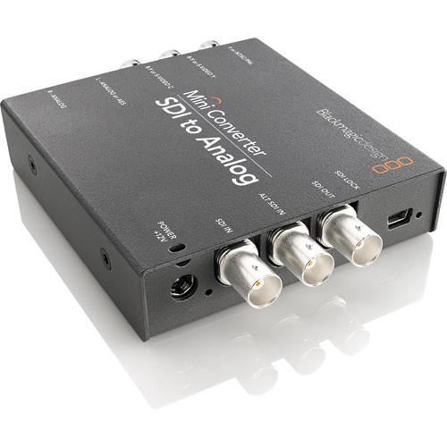 Blackmagic Design Mini Converter SDI to Analog w/ Switronix Powertap Converter Cable Kit