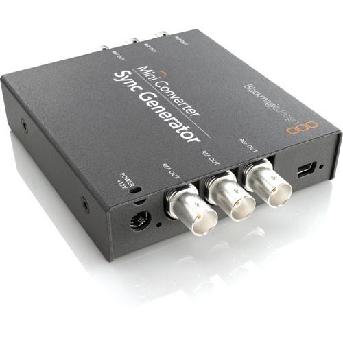 Blackmagic Design Mini Converter Sync Generator w/ Switronix Powertap Converter Cable Kit