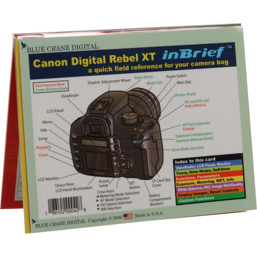 Blue Crane Digital Introduction to the Canon EOS Digital Rebel XT Digital Camera