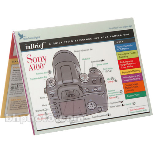 Blue Crane Digital Guide: Sony A100 Digital SLR Camera