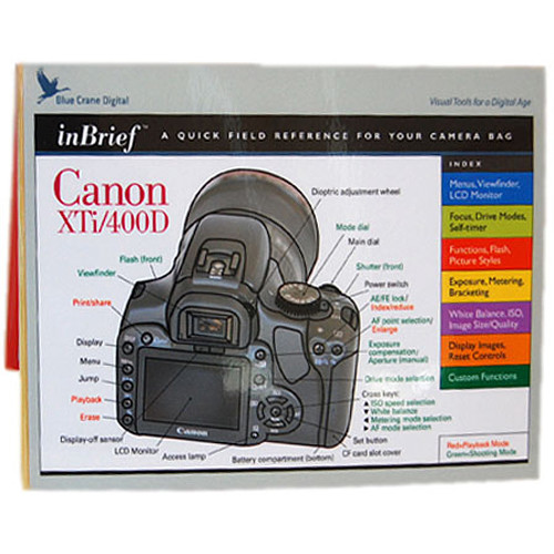 Blue Crane Digital Guide: Quick Reference Guide for the Canon Rebel XTi Camera