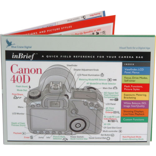 Blue Crane Digital Book: Quick Field Reference for the Canon 40D Digital SLR Camera
