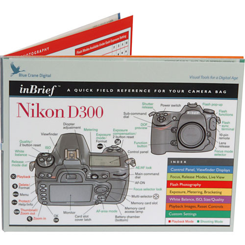 Blue Crane Digital Book: Quick Field Reference for the Nikon D300 Digital SLR Camera