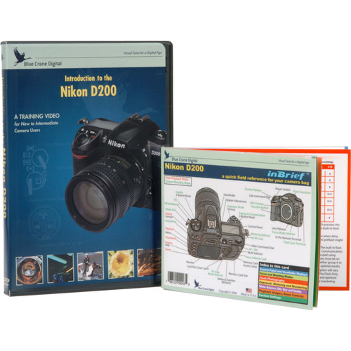 Blue Crane Digital DVD and Guide: Combo Pack for the Nikon D200 Digital SLR Camera