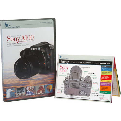 Blue Crane Digital DVD & Guide: Introduction to the Sony A100 - Combo Pack